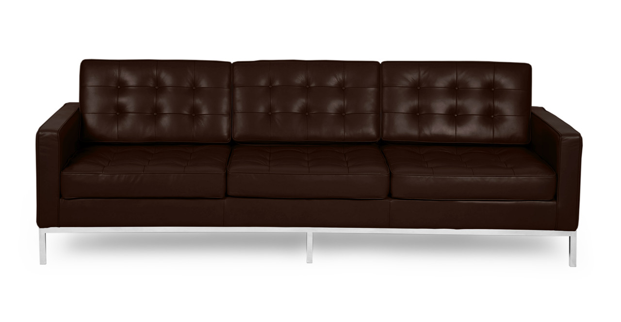 Superieur Florence Sofa, Choco Brown Premium Leather