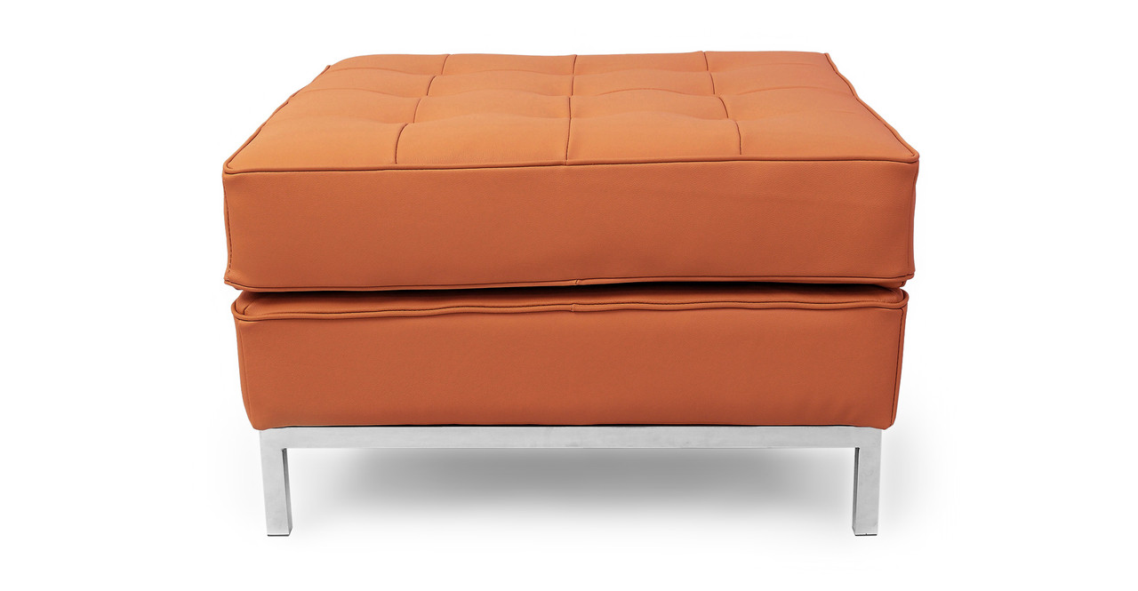 Florence Ottoman Luxe Camel Leather Kardiel