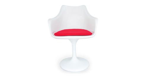 Tulip Armchair, Red Wool