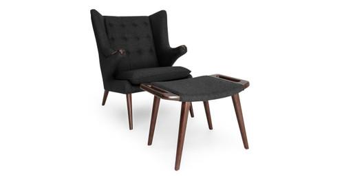 Charmant Papa Bear Chair U0026 Ottoman, Charcoal