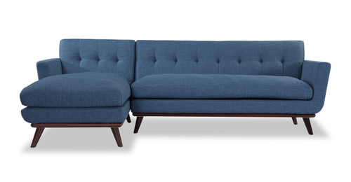 Jackie Sofa Sectional Left, Blue Curacao