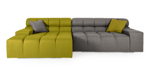 Cubix Sofa Sectional Left, Deco Moss/Cadet Grey