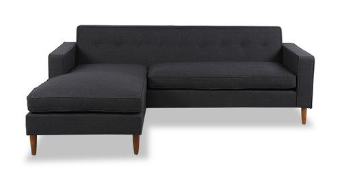 Eleanor Bi Sectional Sofa, Urban Ink