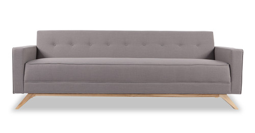 Perfect Bauhaus Modern Sofa, Haze Pewter