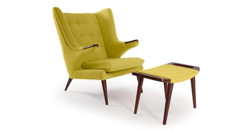 Papa Bear Chair U0026 Ottoman, Dijon