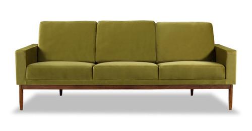 Stilt Danish Mod Sofa, Olive/Walnut