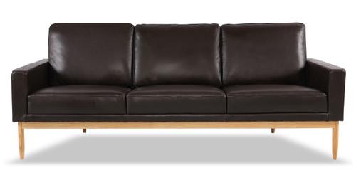 Stilt Danish Mod Sofa, Brown Aniline Leather/Ash