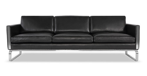 Amsterdam Sofa, Black Aniline Leather