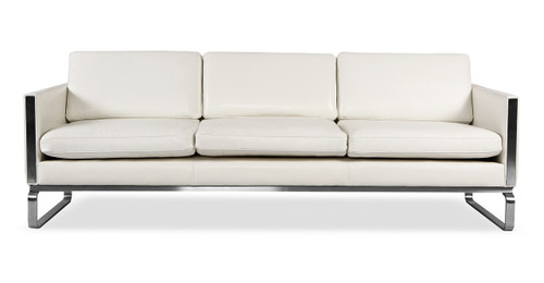 Amsterdam Sofa, White Aniline Leather