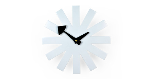 Great George Nelson Asterisk Clock, White Idea
