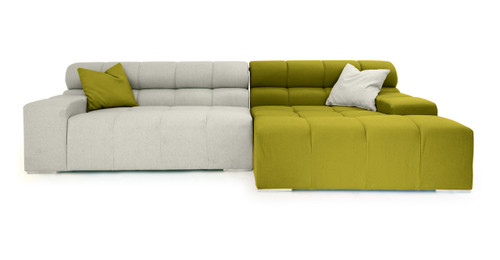 Cubix Sofa Sectional Right, Deco Moss/Heather