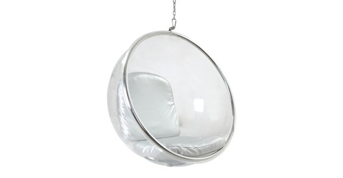 Bubble Chair Hanging, Silver