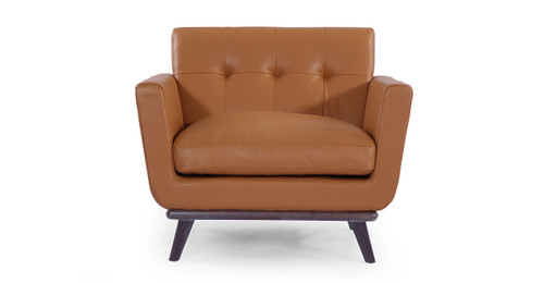 Jackie Chair, Saddle Brown