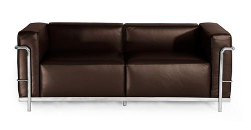 Roche Loveseat, Choco Brown Premium Leather