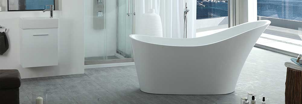 HelixBath Cyrene Freestanding Pedestal Modern Tub