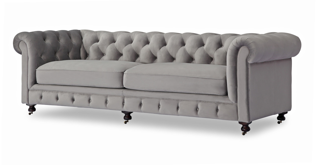 Chesterfield Sofa, Nimbus Velvet