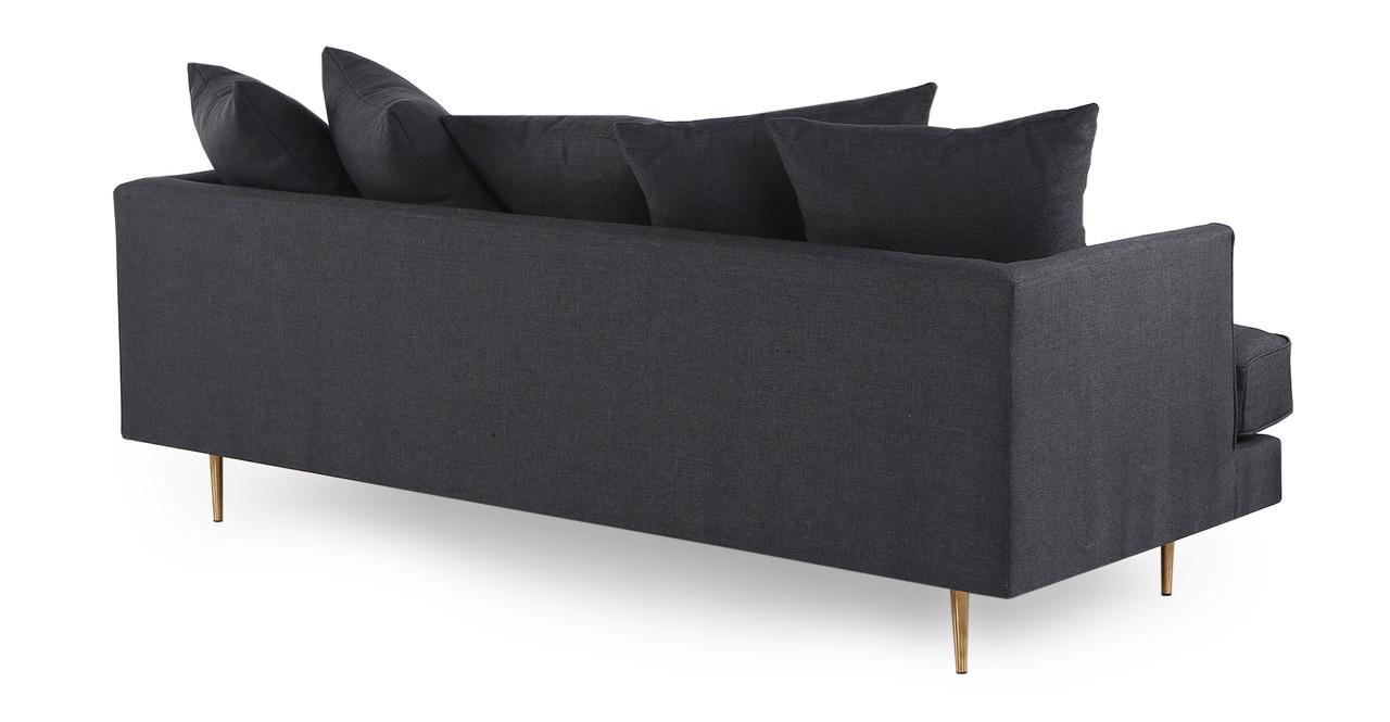 holly modern twill sofa