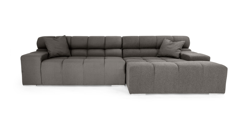 barrington sectional gray sofa faux with com upholstered homelegance chaise leather ac amazon dp