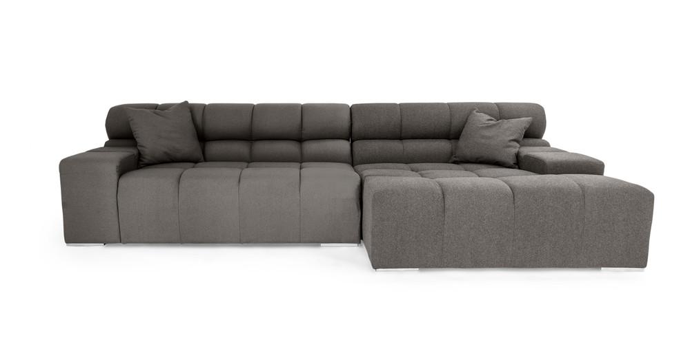 Cubix Sofa Sectional Right, Cadet Grey ...