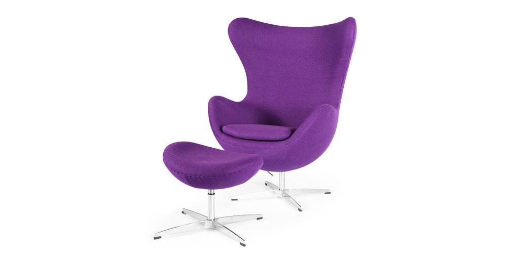 Genial Amoeba Chair U0026 Ottoman, Purple ...