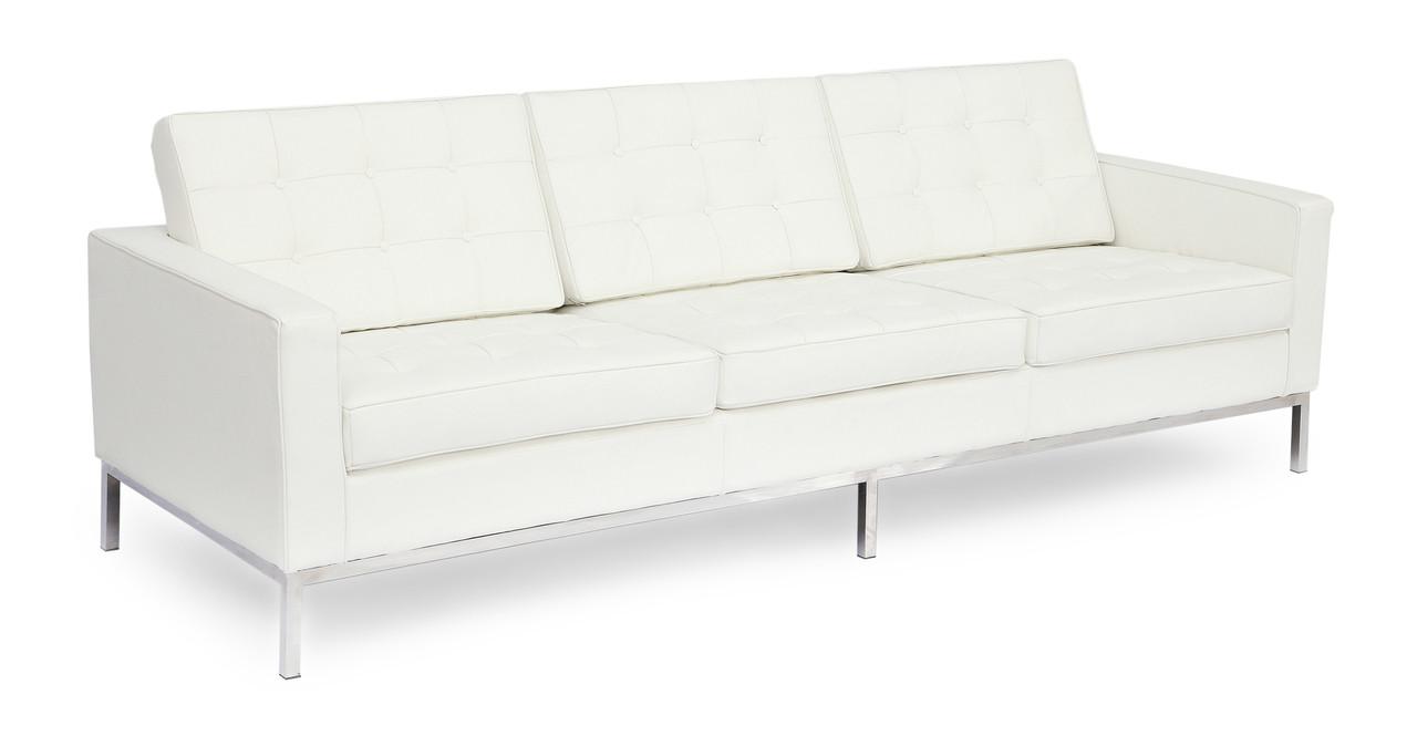 Florence Sofa, Ecume White Leather - Kardiel