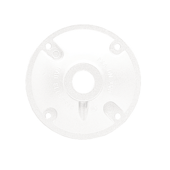 "RAB XC1W - 1/2"" 1 Hole Weatherproof - White Round Cover  
