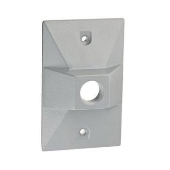 "RAB R14.1 1/2"" 1 Hole - Rectangular Metal Cover Box"