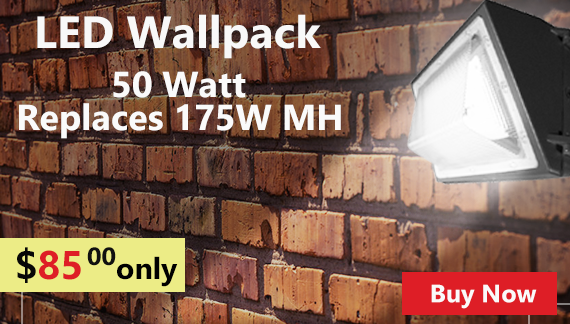 LED Wall Pack - Replaces 175W Metal Halide