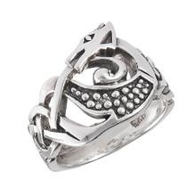 Sterling Celtic Dragon Ring