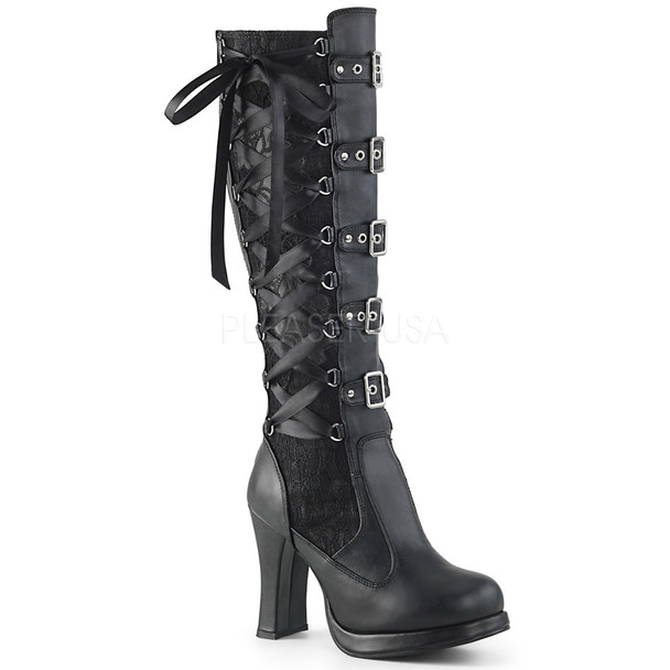 All Black Crypt Keeper Boots