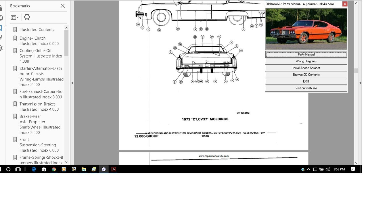 Oldsmobile 1969 Service Manual Manual Cutlass 98 88 Wagon F85 442 Delta 2002  Oldsmobile Bravada Parts Diagram Oldsmobile Parts Diagram