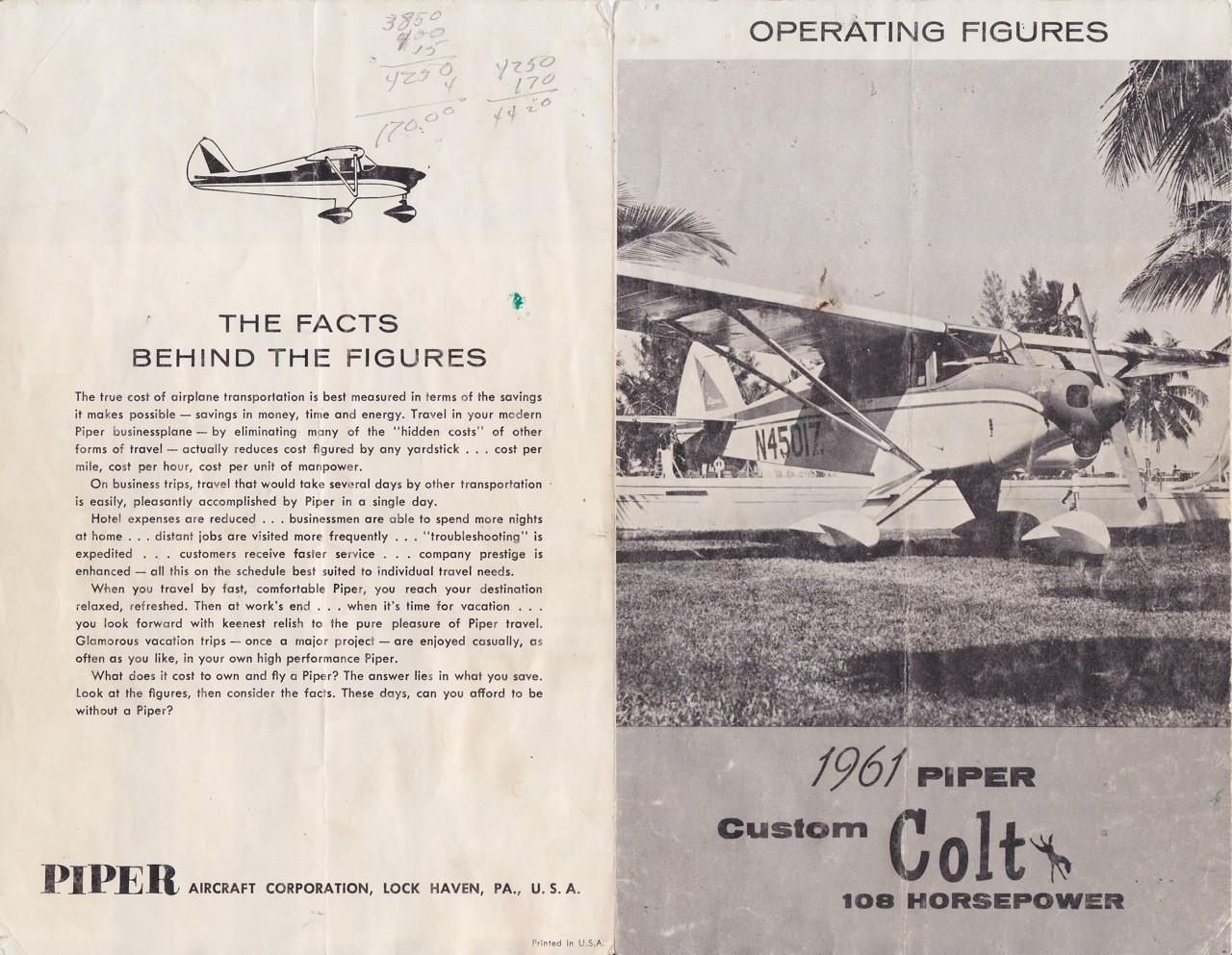 piper colt manual package pa22 108 rh repairmanuals4u com Piper PA 22 108 In-Flight PA 22 Colt