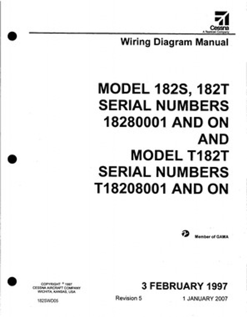 cessna 182 wiring diagram electrical manual 182s 182t. Black Bedroom Furniture Sets. Home Design Ideas