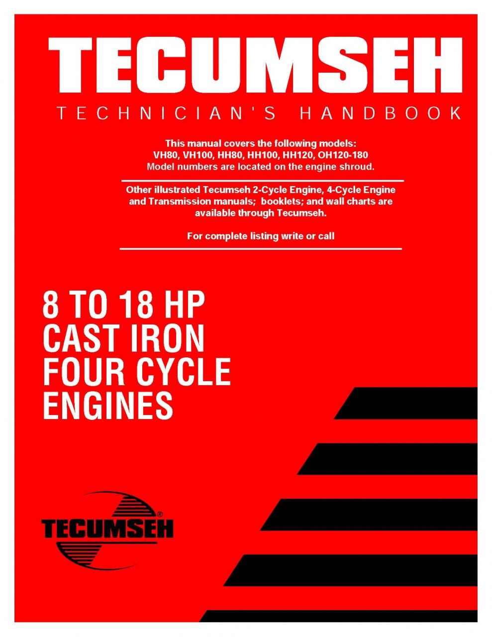 tecumseh engine service repair manual ohh ohv 4 cycle ohh50 65 rh repairmanuals4u com tecumseh service manual download tecumseh-service-manual-4-cycles-3- 11 hp