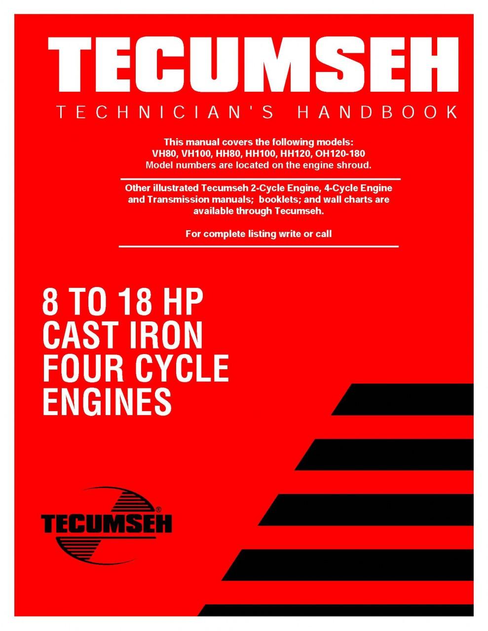 tecumseh engine service repair manual ohh ohv 4 cycle ohh50 65 rh repairmanuals4u com Parts Manual Parts Manual