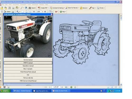 fmc bolens iseki service repair manual diesel g 152 154 172 tx1300 rh repairmanuals4u com Iseki TS1610 Parts Iseki Tractor Parts