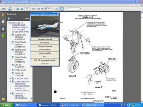 cessna 421c service repair manual set engine manuals d2515 23 13 rh repairmanuals4u com cessna 150 service manual cessna 152 maintenance manual pdf