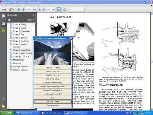 Service Manuals Cessna Beechcraft Yamaha Bolens Outboard