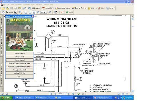 bolens iseki tractor hydrostatic factory service manual 1502h 1704h rh repairmanuals4u com Garden Tractor Ignition Wiring Diagrams Bolens Lawn Mower Wiring Diagram