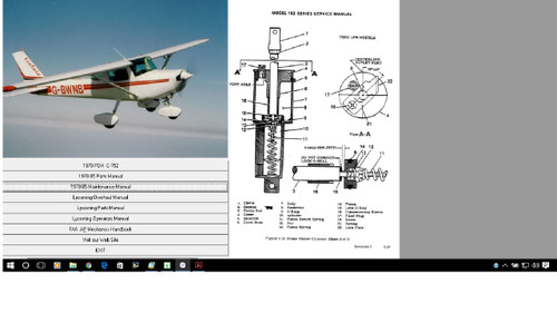 cessna 152 aircraft service maintenance manual plus engine overhaul rh repairmanuals4u com Cessna 402 Seating cessna 402b maintenance manual free pdf