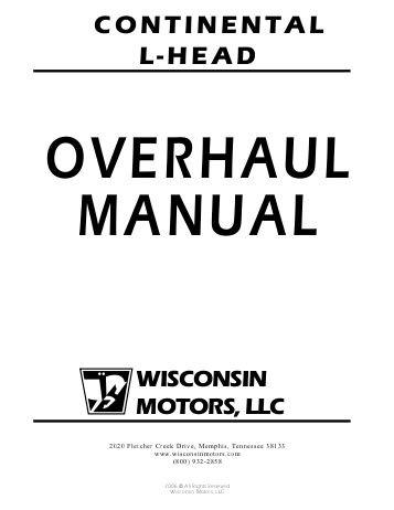 continental l head engine overhaul manual 4 and 6 cylinder tractor motor rh repairmanuals4u com continental overhaul manual io 520 continental a65 overhaul manual