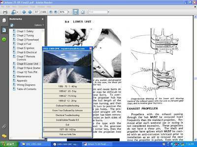 omc johnson evinrude outboard motor 65 300 hp service repair manual rh repairmanuals4u com omc sterndrive repair manual omc cobra repair manual