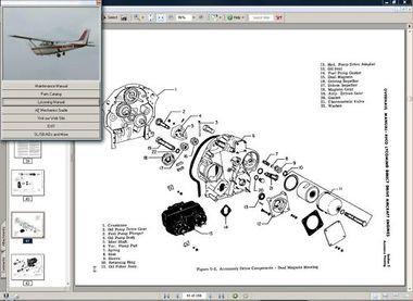 Cessna 182RG and R-182 TR182 maintenance service manual set + engine 1978 - 86