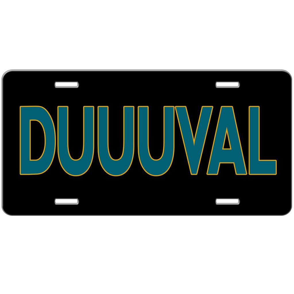 Duval Jacksonville Jaguars Duuuval Fan Car Tag License Plate Vanity Plate