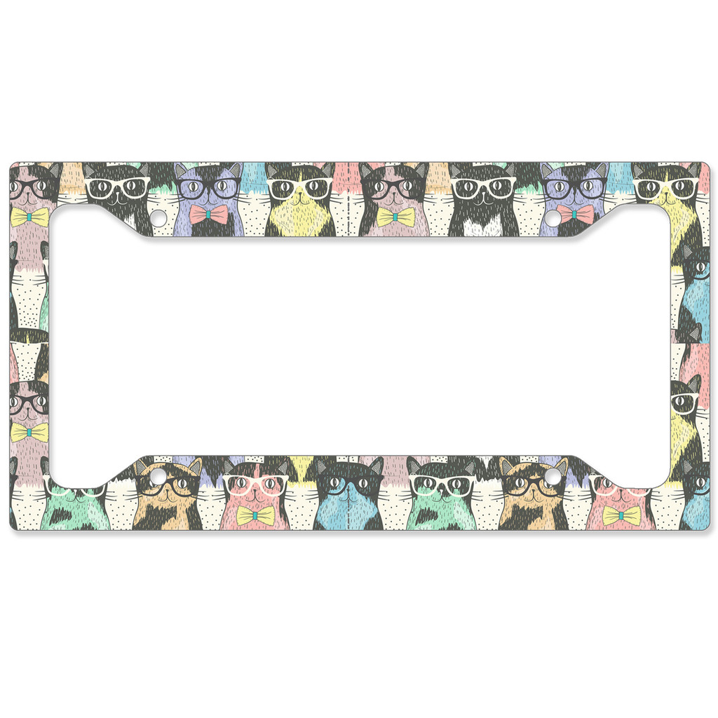 Cute Cats Auto License Plate Frame, Car Tag Frame, License Plate Cover