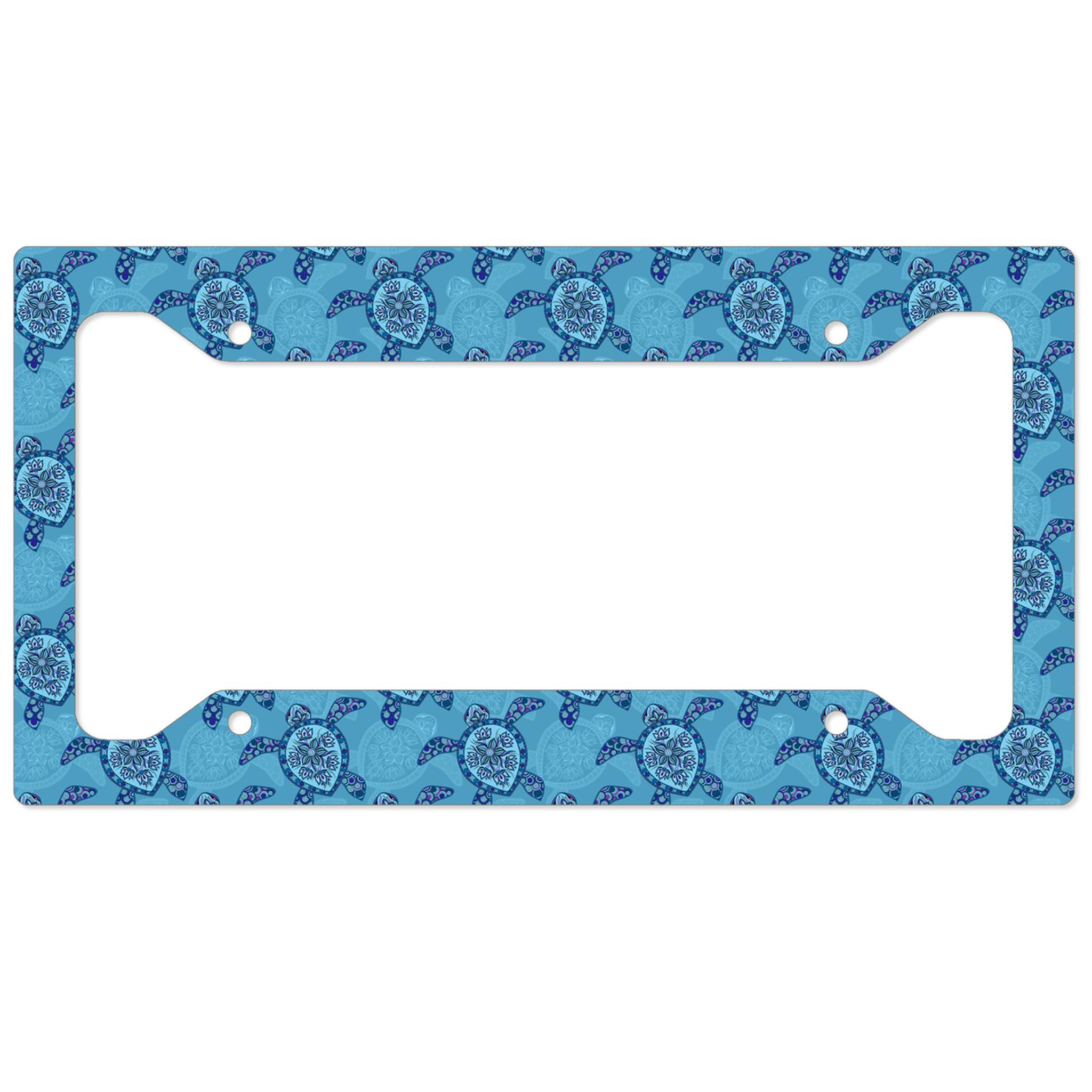 Sea Turtles Auto License Plate Frame, Car Tag Frame, License Plate ...