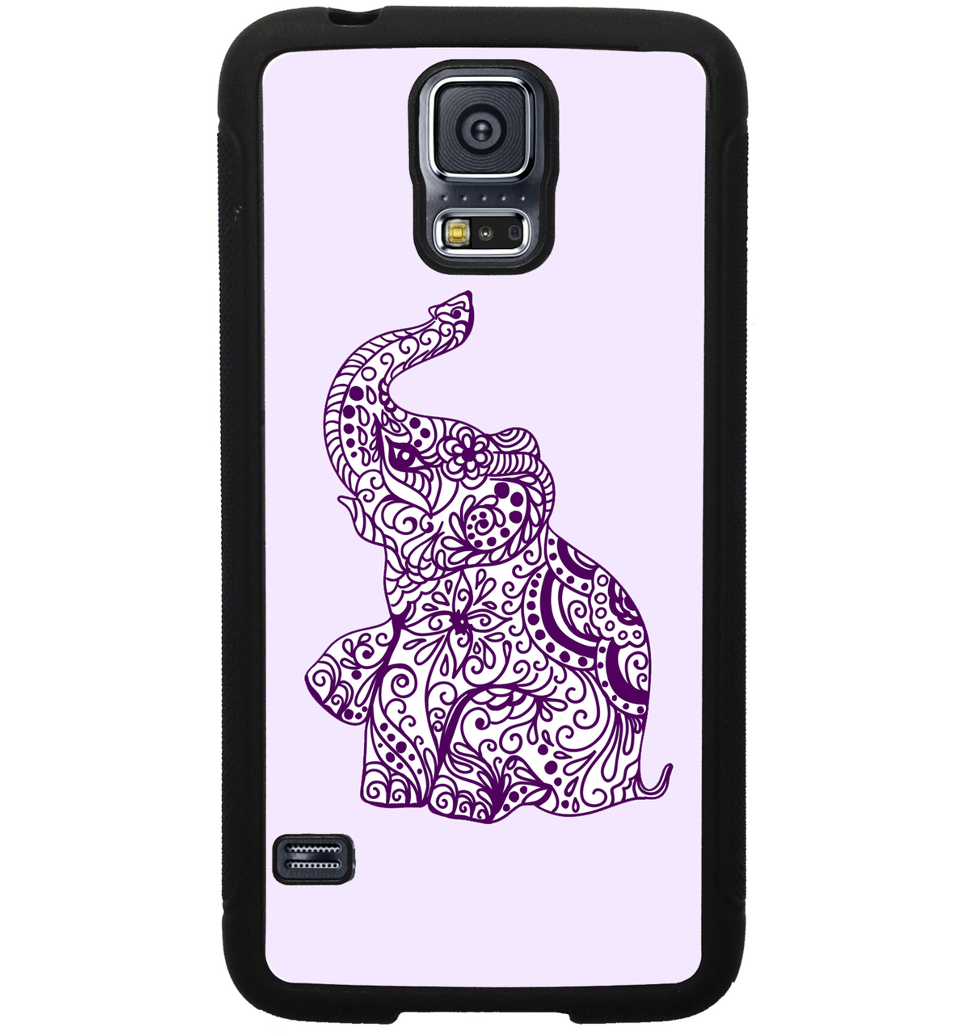 samsung galaxy case - ethnic elephant purple custom