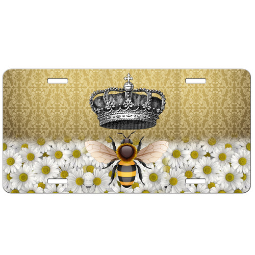 Queen Bee Bumble Bee Custom License Plate