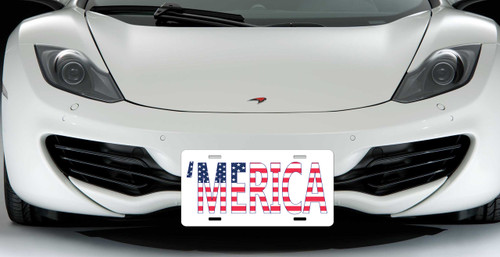 merica custom license plate simplycustomized. Black Bedroom Furniture Sets. Home Design Ideas