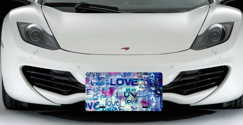 Love Graffiti Custom License Plate